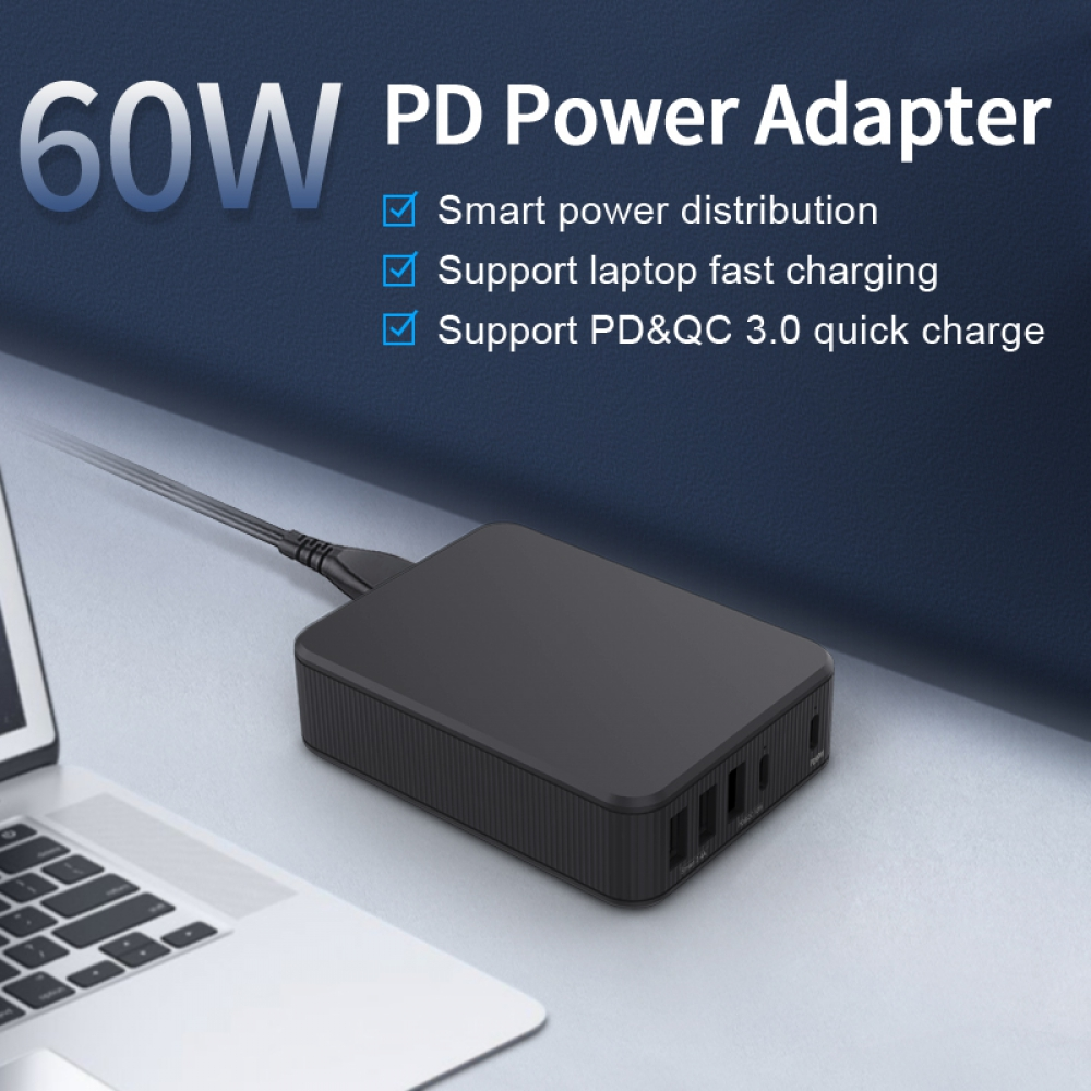 5-Ports Smart Power Adapter