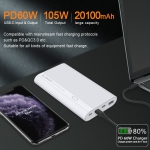 PD+QC Laptop Power Bank 20100mAh
