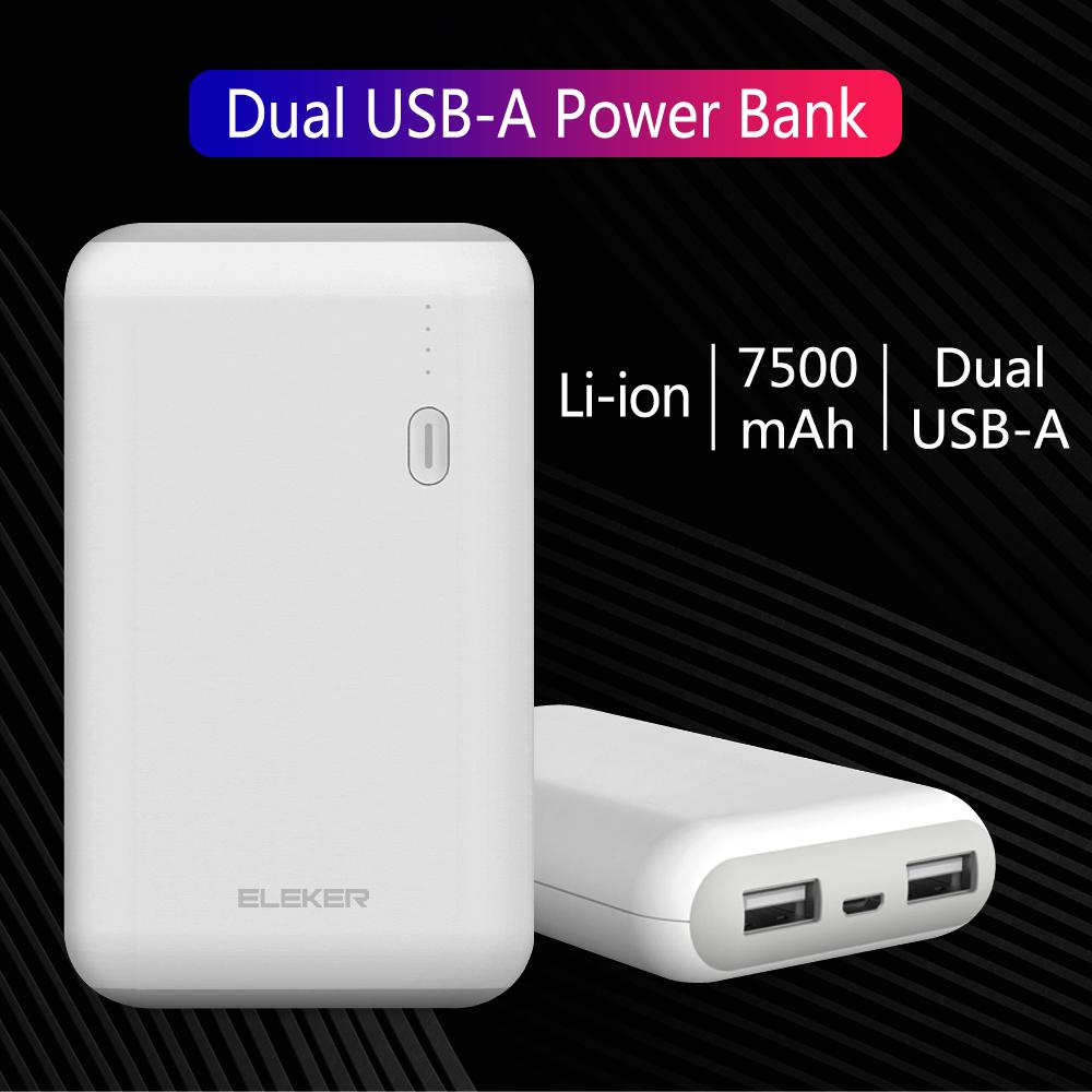 2USB Power Bank 7500mAh