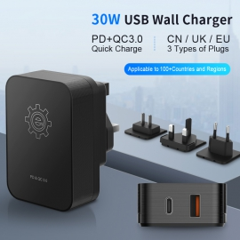 2 USB Travel Adapter KIT With PD+QC3.0
