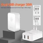 2 USB Power Adapter With QC3.0