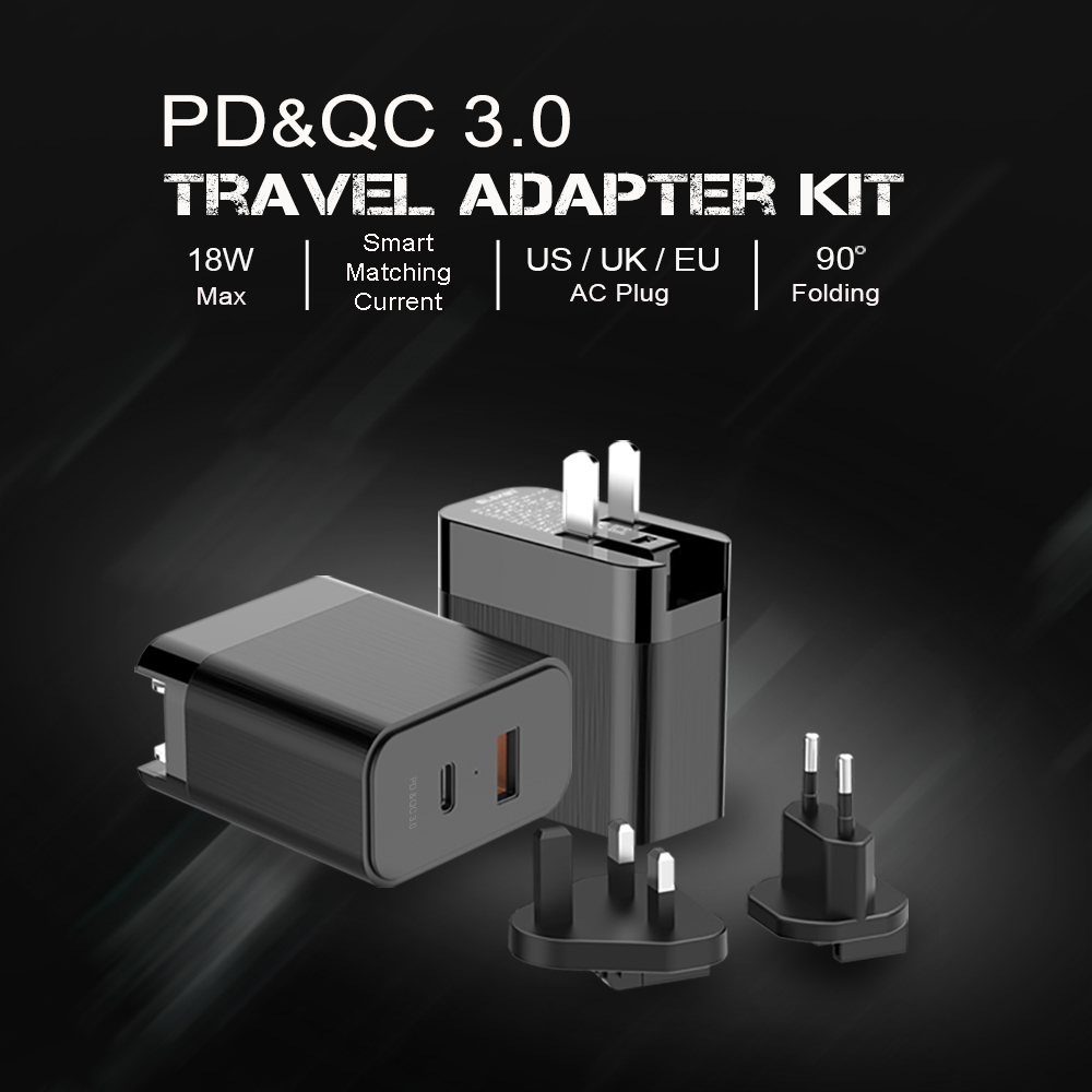 PD&QC 3.0 Travel Adapter KIT