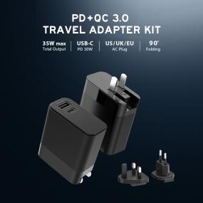 PD + QC 3.0 Travel Adapter KIT