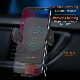 Automatic Clamping  Wireless Car Charger Mount Hol..