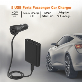 Car Charger with 5 Ports USB Port