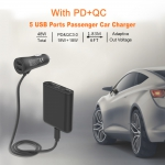 5 USB Ports Passenger Car Charger
