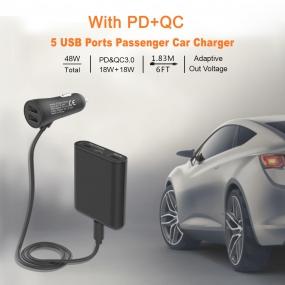 5 USB Ports Passenger Car Charger